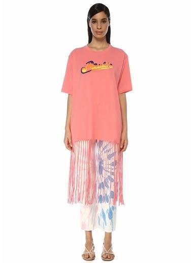 Loewe Loewe x Paula's Ibiza Oversize  Logolu Püskül Detaylı T-shirt 101546322 Altın